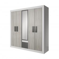 Armoire HELIOS 4 portes avec miroir