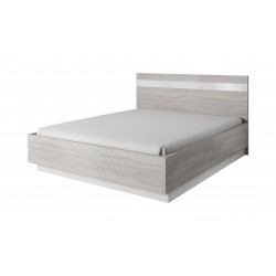 Lit 160 x 200 MONTREAL gris et blanc
