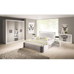 Chambre complète HELIOS gris et blanc