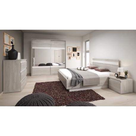 Chambre complète MONTREAL gris et blanc