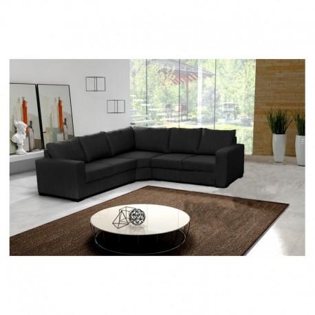 Canapé d'angle LILI 5 places noir