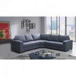 Canapé d'angle LILI 5 places gris