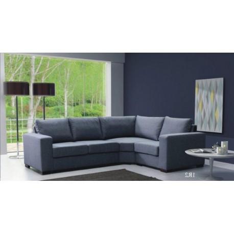 Canapé d'angle LILI 4 places gris