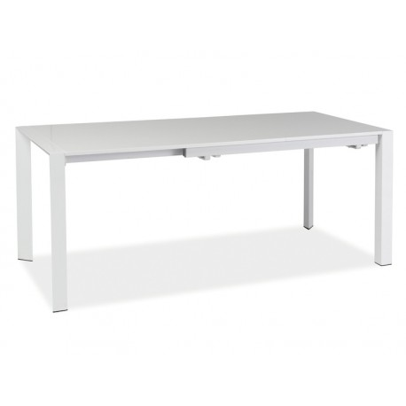 Table extensible LUGANO blanche