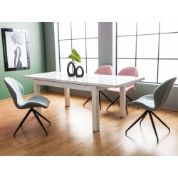 Table extensible LIBERI laqué blanc