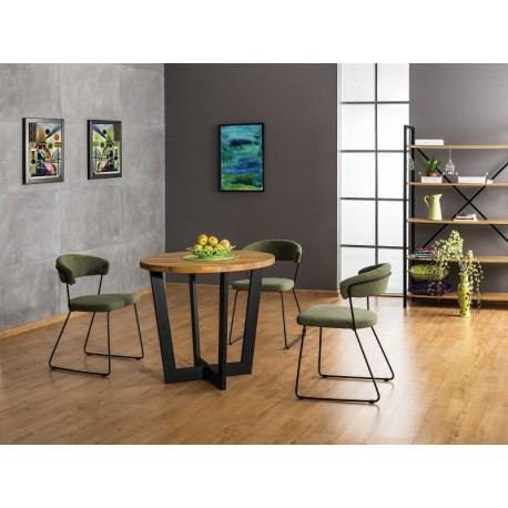 Table ronde de 90 cm en chêne massif