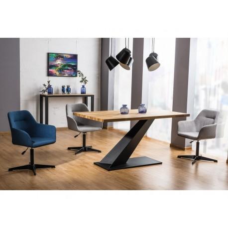 Table en chêne ARROW avec pied en métal noir. Style industriel
