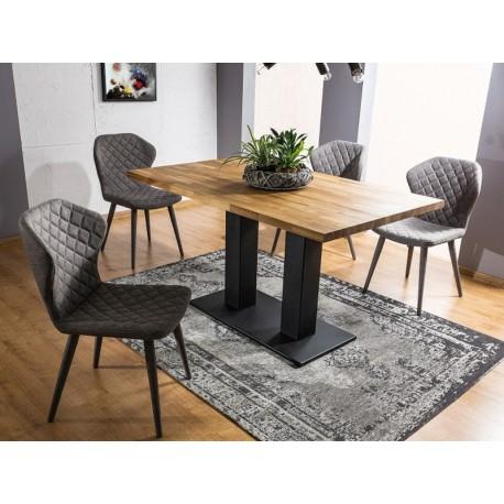 Table SAURON plateau bois et pieds en métal