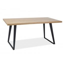 Table en chêne massif FALCON style loft industrielle
