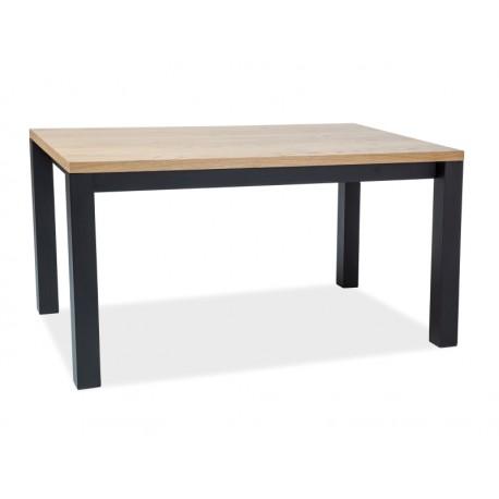 Table en chêne IMPERIAL style industrielle