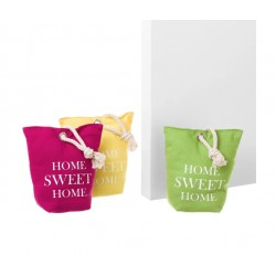 "Butoirs de porte sac ""Home sweet home"" x 3"
