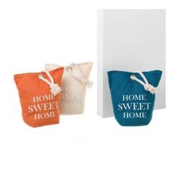 """Butoirs de porte sac """"Home sweet home"""" 2 x 3 - 20 x 10 x 20 cm"""