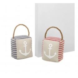 Butoirs de porte sac marin x 2 - 12 x 10 x 15 cm