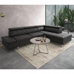 Canapé d'angle 5 places EXCELLENCE en simili cuir soft