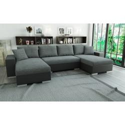 Canapé panoramique convertible LIAN gris foncé