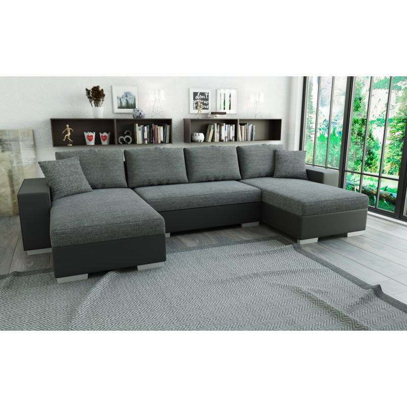 canap double m ridienne convertible en u lian 5 places. Black Bedroom Furniture Sets. Home Design Ideas