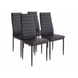 Lot de 4 chaises ALBA noir