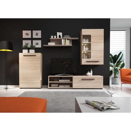 Ensemble meuble TV BRITTA avec LED