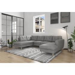 Canapé-lit en U XXL ONTARIO II 6-7 places gris