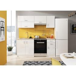 Cuisine complète 180 cm AMANDA blanche parfaite pour studio et appartement étudiant moins de 300 euros pas chere