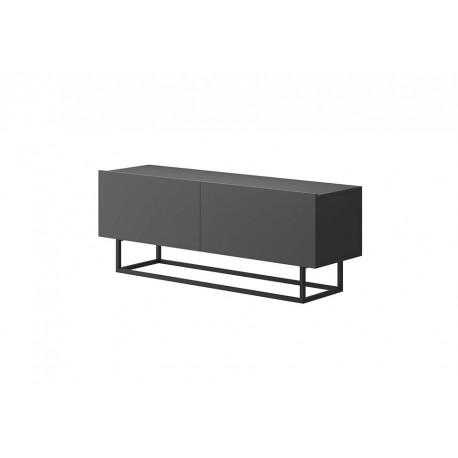 Meuble télé ENJOY style industriel - meuble de télévision blanc, bois ou gris