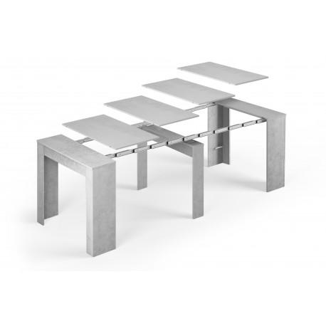 Table extensible ALGA couleur béton gris