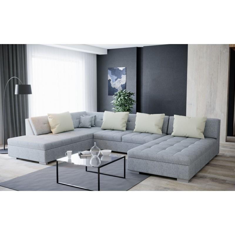 canap d 39 angle convertible en u otis avec lit sans accoudoir. Black Bedroom Furniture Sets. Home Design Ideas