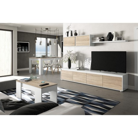 Ensemble meuble TV scandinave ALIDI