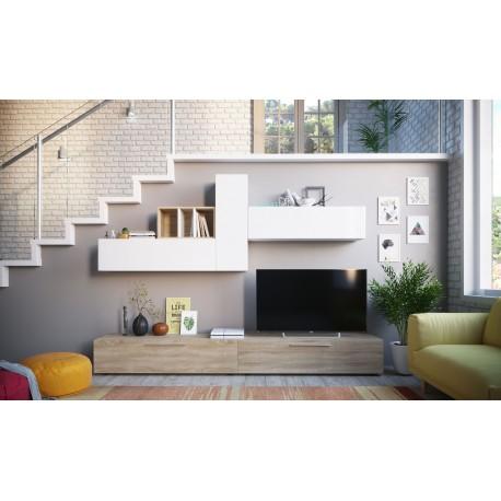 Ensemble de meubles TV ELIO style scandinave nordique avec meuble bas 260 cm