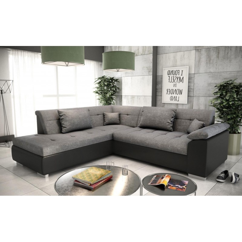 Canapé d'angle convertible LITO design lit en tissu et ...