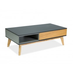 Table basse ROMU chêne et gris