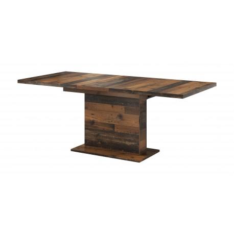 Table rectangle + allonge GLIANT 160 - 200 cm couleur béton, industrielle ou bois