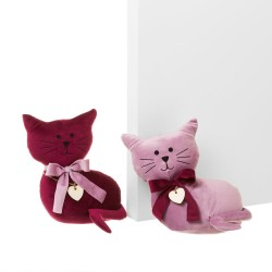 Cale porte chat rose x2