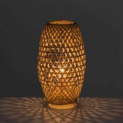 Lampe en métal bamboo naturel