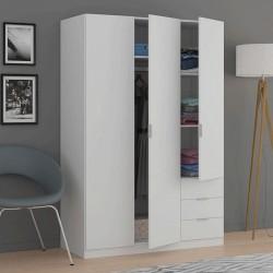 Armoire Garde-robe 3 portes 3 tiroirs
