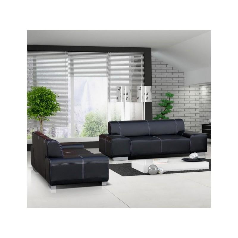 canap droit flavio ensemble 2 places 3 places fauteuil moderne. Black Bedroom Furniture Sets. Home Design Ideas