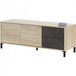 Meuble TV 2 portes 2 tiroirs BROOK industriel urbain