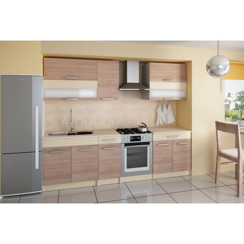 cuisine compl te 2m10 m lamin bois elise. Black Bedroom Furniture Sets. Home Design Ideas