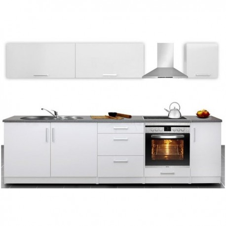 Cuisine compl te 2m80 laqu e madison design moderne for Cuisine amenagee complete