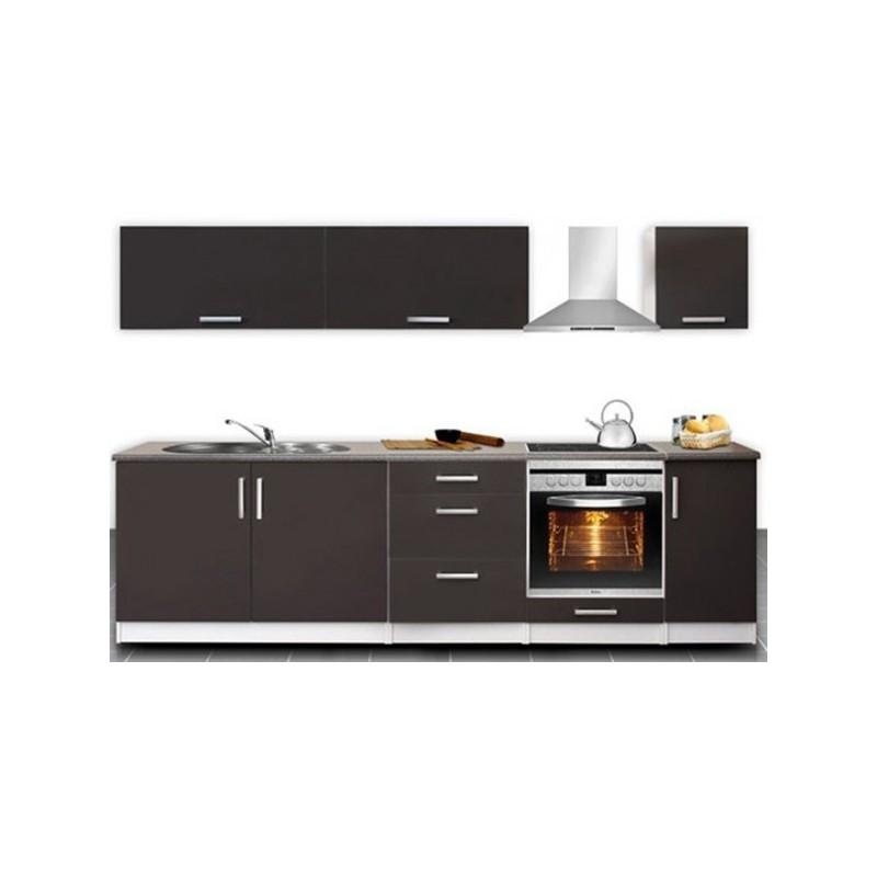 Cuisine compl te 2m80 laqu e madison design moderne for Cuisine complete prix
