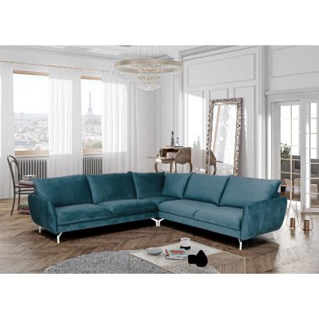 Canapé d'angle LAVI avec pieds chromés