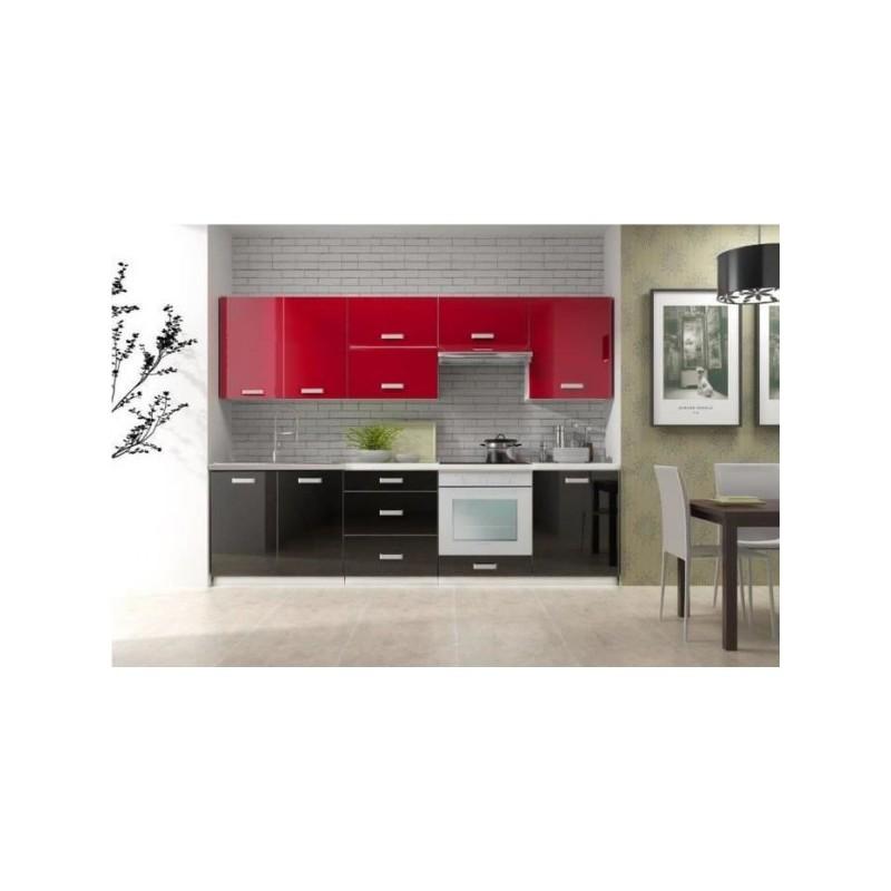 Cuisine compl te 2m60 laqu e bi color toro design moderne for Cuisine complete moderne