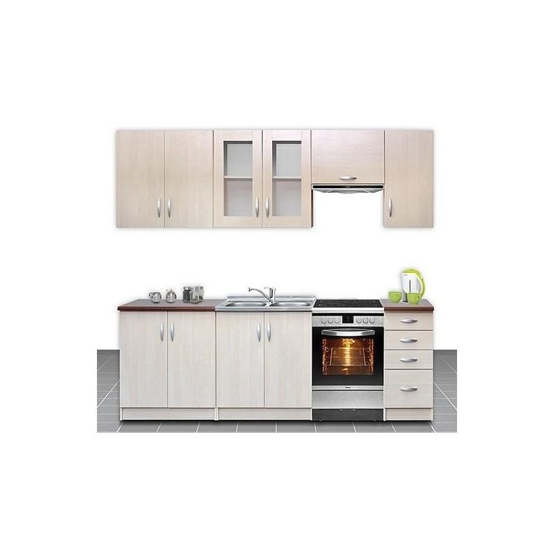 Cuisine compl te 2m60 imitation bois oc lia design moderne for Cuisine complete moderne