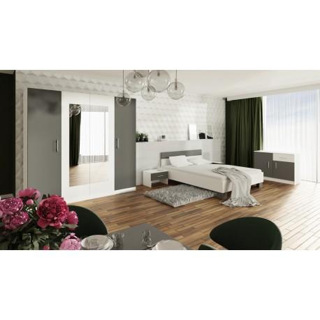 Chambre adulte PURIO avec commode, lit et chevets