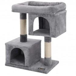 FILONA - Arbre à Chat Colonne en sisal pour aiguiser Les Griffes, 2 niches luxueuses