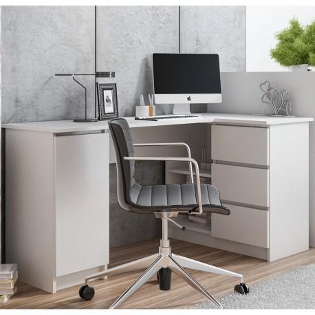 ANA - Bureau d'angle avec porte et 3 tiroirs