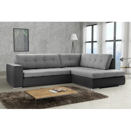 Canapé d'angle convertible LEXIA en beige, gris ou noir