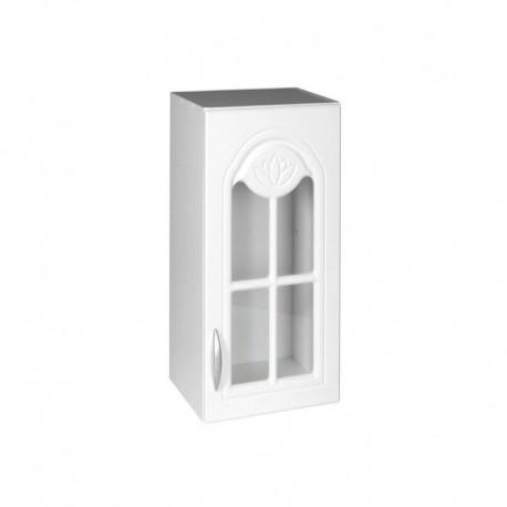 Meuble de cuisine haut 1 porte vitrine 60 cm DINA mélaminé avec 1 étagère