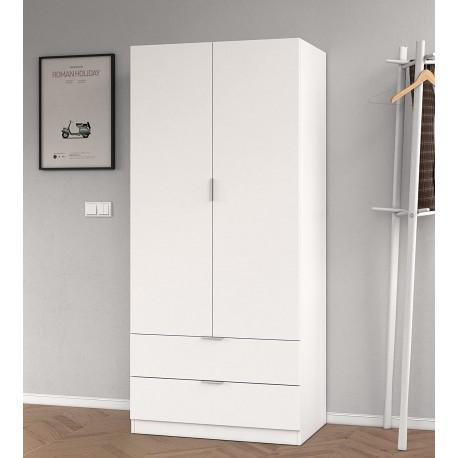 Armoire penderie 2 portes et 2 tiroirs