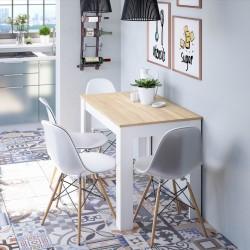 CLEA - Table de cuisine auxiliaire 109 cm style scandinave